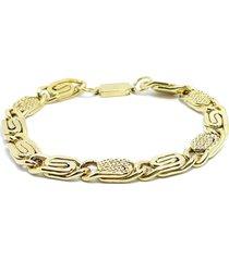pulseira kodo acessórios aço dourado