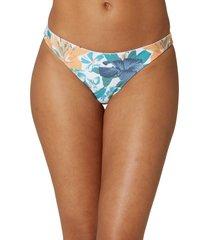 o'neill flamenco saphira dot reversible bikini bottoms, size large in white saphira dot at nordstrom