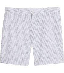 bermuda hombre lineas color blanco, talla 30