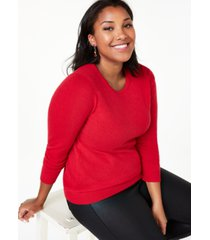 charter club plus size crewneck cashmere sweater, created for macy's
