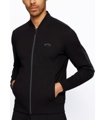 boss men's zip-through relaxed-fit sweatshirt