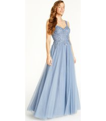 say yes to the prom juniors' rhinestone applique gown, created for macy's
