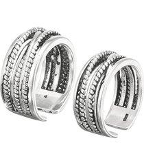 anelli d'argento dell'anello della barretta dell'anello regolabile d'argento di torsione dell'annata dei monili per le donne degli uomini