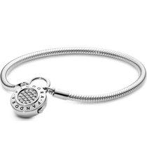 bracelete crie & combine - liso fecho pandora cadeado