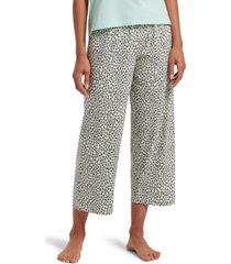 hue leopard-print cropped pajama pants