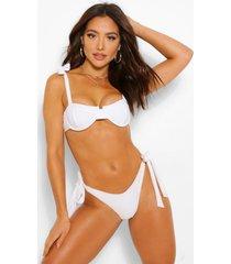 mix & match fuller bust underwire tie bikini top, white