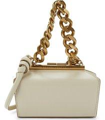 stella mccartney women's faux-leather structured shoulder bag - cream