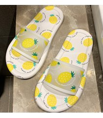 pantuflas de fondo suave antideslizantes para mujer-amarillo