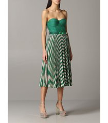 elisabetta franchi dress elisabetta franchi bodice dress with two-tone lurex effect skirt
