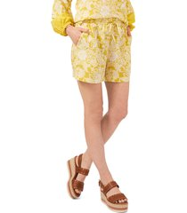 women's vince camuto floral print shorts, size medium - yellow