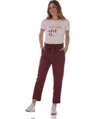 pantalón  vino tinto baggy para mujer 100616-00