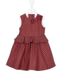familiar checkered ribbon bow dress