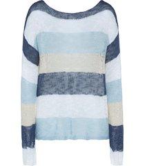 maglione oversize (blu) - rainbow