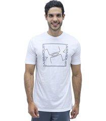 camiseta blanco under armour rhythm ss