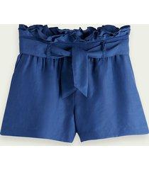 scotch & soda drapey-fit belted shorts