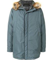 undercover pocket-pouch duffle coat - blue