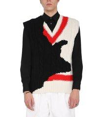 alexander mcqueen ink bleeding inlyay sweater