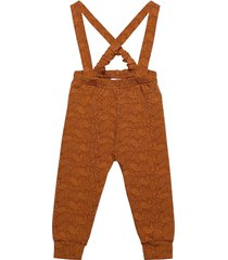 rhino suspender pants overall brun müsli by green cotton