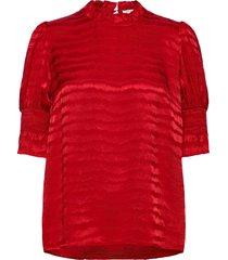 blouse blouse lange mouwen rood sofie schnoor