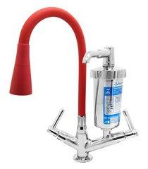torneira filtro para cozinha de mesa c29 luxo vermelho
