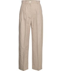 sunna trousers pantalon met rechte pijpen beige wood wood