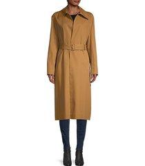 rundi belted linen & cotton coat