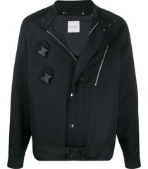paul smith buckle detail jacket - black