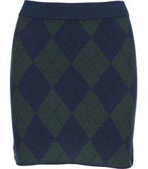 alessandra rich argyle-knit mini skirt