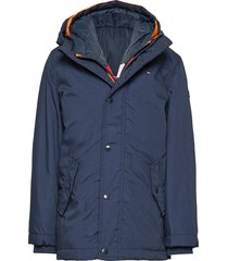 2 in 1 hooded jacket parka-jas blauw tommy hilfiger