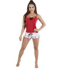 pijama dos piezas short corto y blusa mujer – bésame