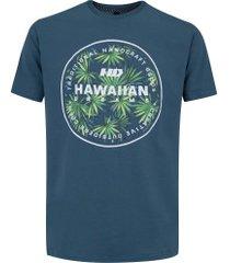 camiseta hd estampada spike flora 6203a - masculina - petroleo