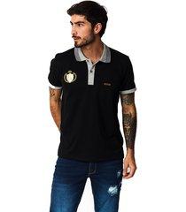 camiseta tipo polo-puntazul-negro-41450