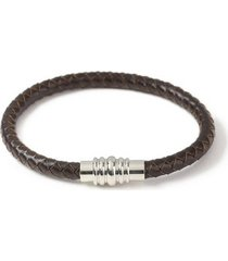 mens brown leather bracelet*