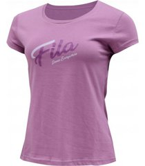 camiseta iconic everywhere logo tee fila mujer flm49-ts013 violeta