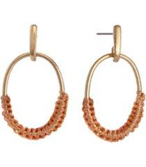 the sak thread oval drop earrings