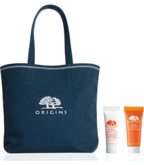 receive a free ginzing duo & tote bag with any $70 origins purchase (a $20 value!)