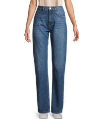 iro women's slate high-rise straight-leg jeans - country blue - size 24 (0)