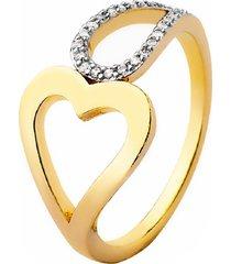 anel la madame co coração dourado