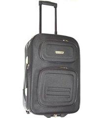 maleta mediana 24 pulgadas 2 ruedas en lona negro - le sak