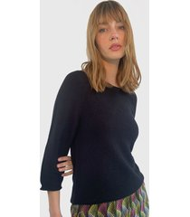 sweater only negro - calce holgado