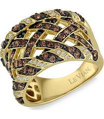14k honey gold™chocolatediamonds® & vanilla diamonds® ring
