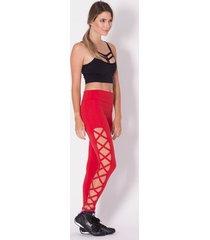 calça legging fitness go fit rio trançada lateral