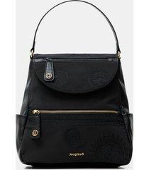 trapeze silhouette medium backpack - black - u
