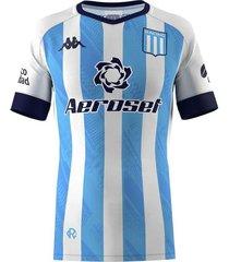 camiseta celeste kappa racing club kombat home player