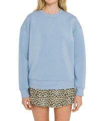 women's grey lab lounge wear crewneck sweatshirt, size small - blue