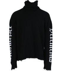 gothic logo turtleneck sweater