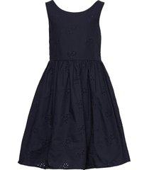 d2. broderie anglaise dress jurk blauw gant