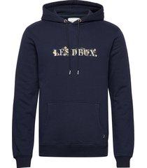 fleur-de-lis hoodie hoodie trui blauw les deux