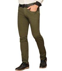 envío gratis pantalon lenin verde para hombre croydon