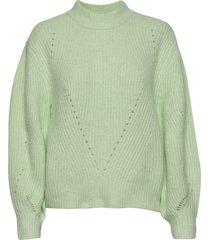 kaiagz pullover ma20 gebreide trui groen gestuz
